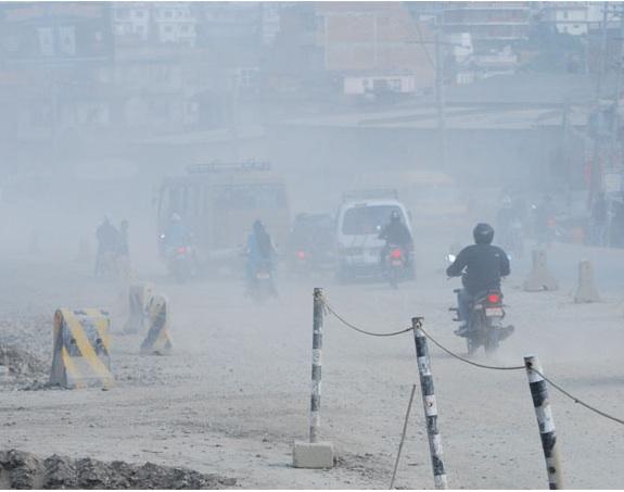 Effect on air pollution of kathmandu valley