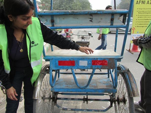 A fixed rickshaw